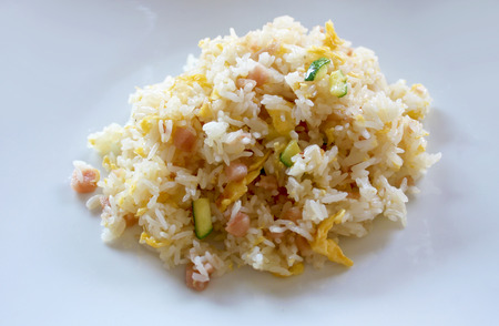 etnic: Asian Rice Recipe on a plate Stock Photo