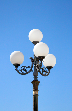 lamp post: Baroque lamp post in daylight Stock Photo
