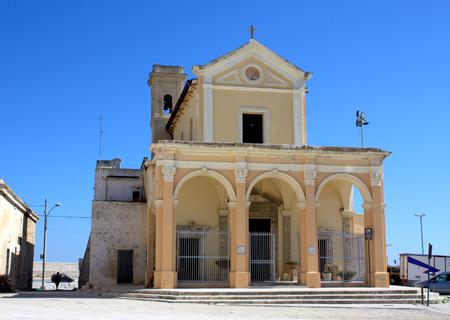 madonna: Church Madonna del Canneto in Gallipoli - Puglia, Italy Stock Photo