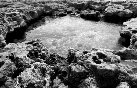 natural pool: natural pool of sea water in Italy