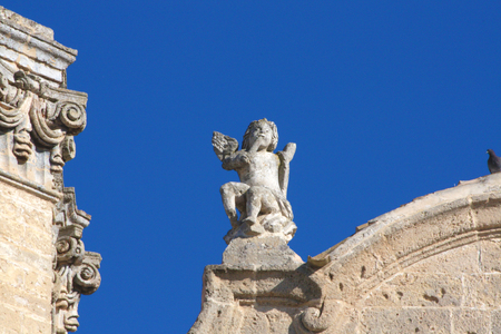 architectural details: Baroque architectural details of Puglia, Italy