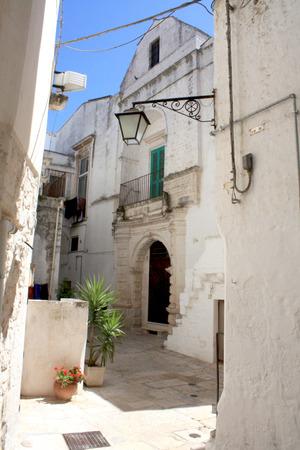 architectural architectonic: Martina Franca Alley in Puglia, Italy