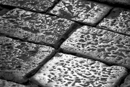 cobblestone: Cobblestone pavement in Lecce, Italy