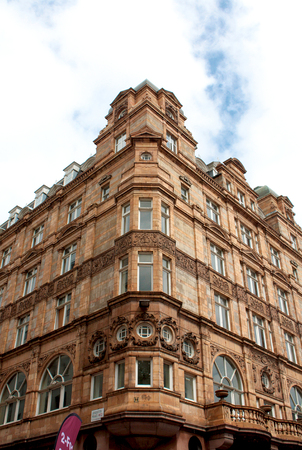 leicester: Leicester Place angle Palace London Editorial