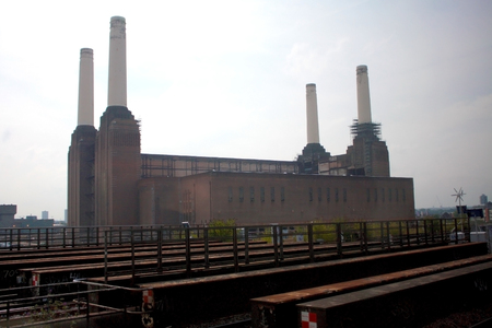 battersea: The Battersea Power Station in London