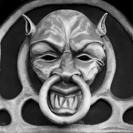 head shape: Demon head shape doorknocker