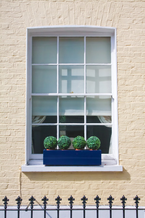 notting hill: Window in Notting Hill District (London).