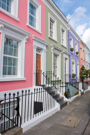 notting hill: Notting Hill colored houses, London.