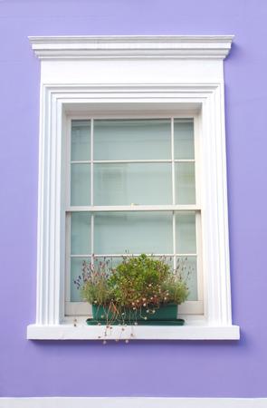 notting hill: Notting Hill window style, London.