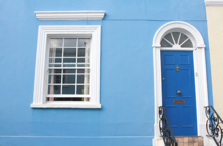 notting hill: Notting Hill colored house, London.