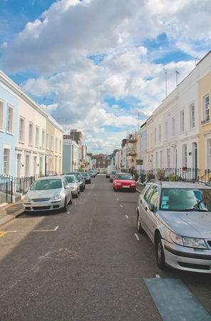 notting hill: Residential street in Notting Hill, London.