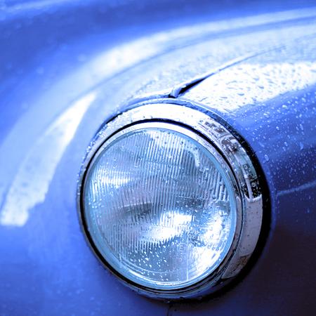 head light: Pink Cab Head Light Stock Photo