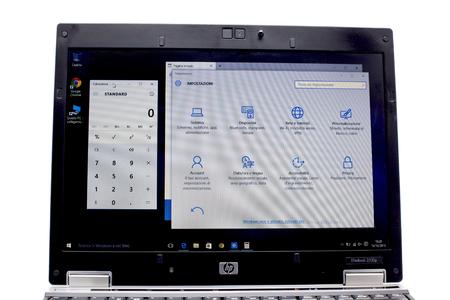 microsoft: Microsoft Windows 10 on a laptop Editorial