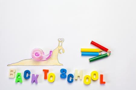 babosa: Slug Dibujo ir a la escuela.