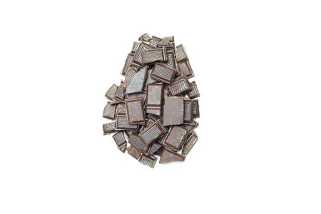 chunks: Easter Egg shaped chocolate chunks.