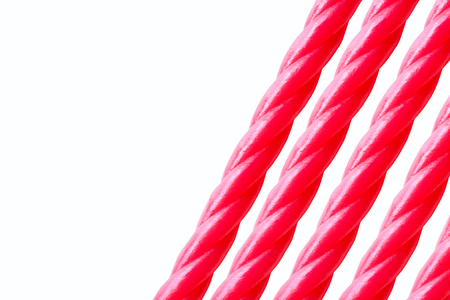 liquorice: set of sweety sticks oblique layout with copy space. Stock Photo