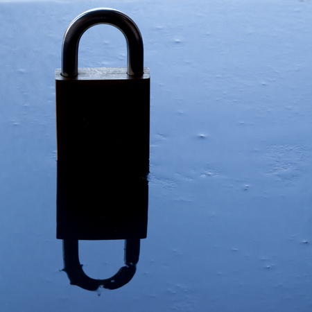 padlock silhouette - security concept.