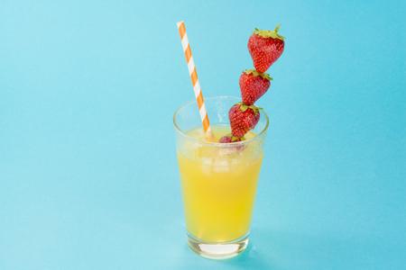 glass of refreshing drink: orange juice. Stock Photo