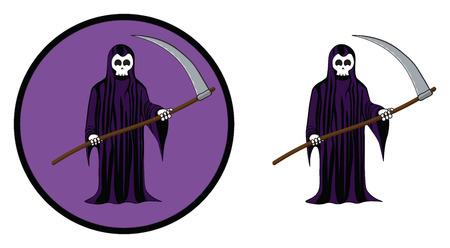 Grim reaper halloween icon Illustration