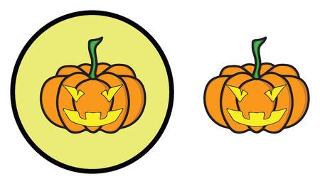 citrouille halloween icône illustration vectorielle