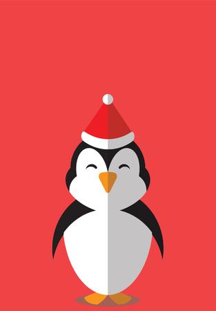 PENGUIN CHRISTMAS HAT - CHRISTMAS BUDDIES SERIES. Illustration