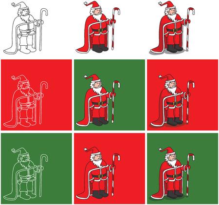 Santa Claus vector illustration.