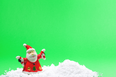 SANTA CLAUS CHRISTMAS SCENE GREETINGS Stock Photo