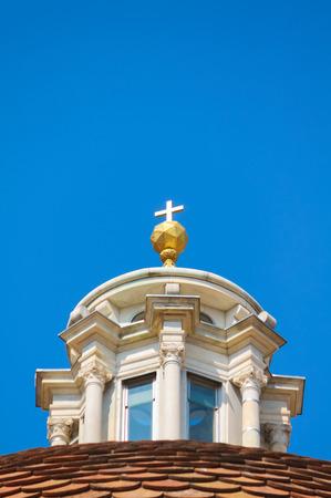 Basilica san lorenzo golden cross close up