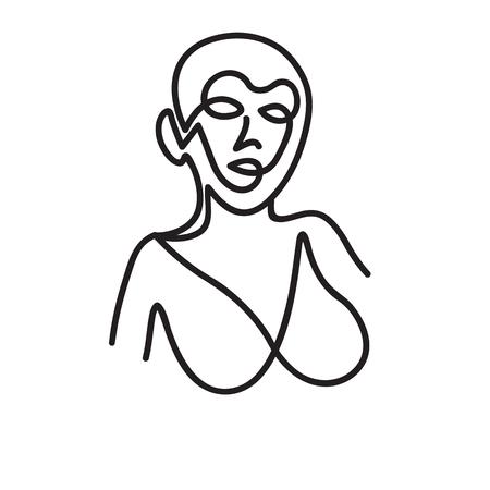 Venus de Milo inspiration - work in single line style Vectores