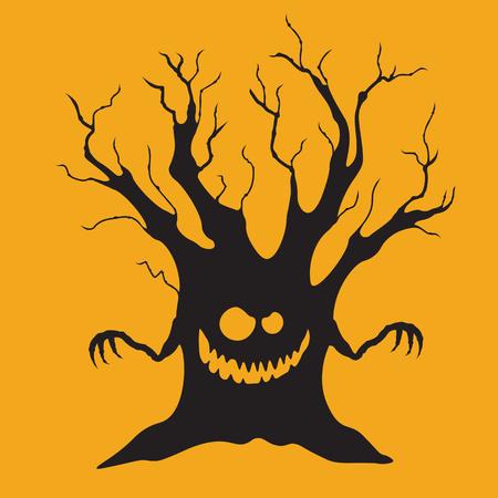 Halloween Icon: The Bully Tree (Orange Background)