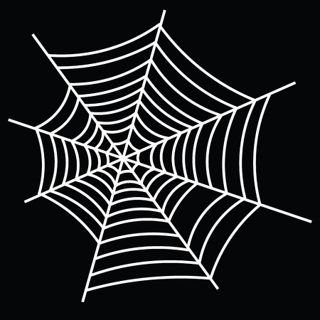 Halloween Icon: The Sticky Spider Web (Black Background)