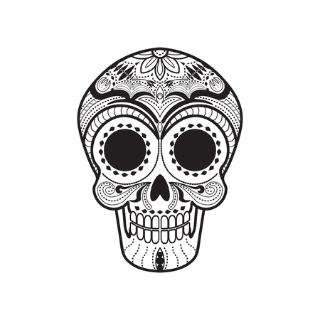 Maxican Calavera Skull icon/symbol Illustration