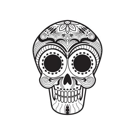 Maxican Calavera Skull icon/symbol Vectores