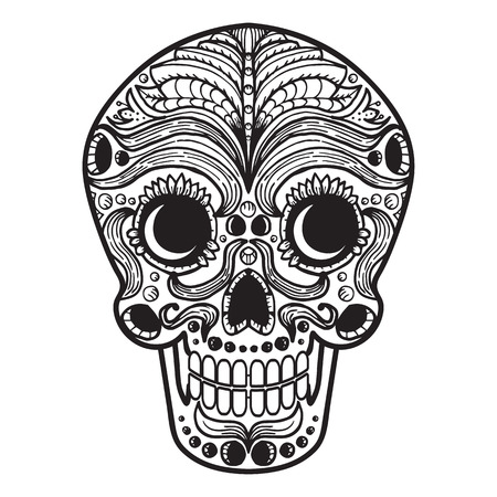 Mexican Calavera Skull iconsymbol