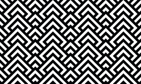 Seamless Optical Texture - geometric design black and white Иллюстрация