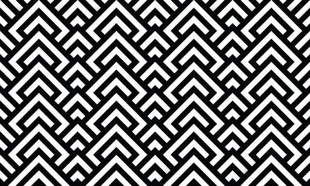 Seamless Optical Texture - geometric design black and white Illustration