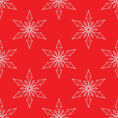 Snowflake Crystal Texture Red and white