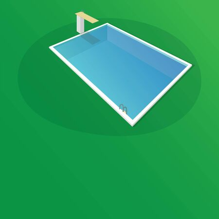 SWIMMING POOL ISOMETRIC STYLE