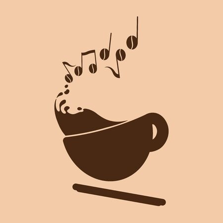 Espresso Music Concept logo (customizable for your business)