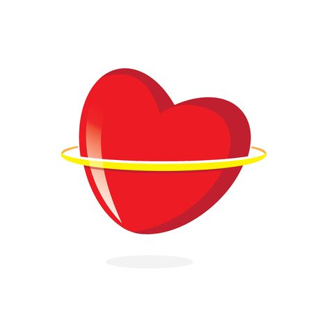 Heart Orbit logo isolated on white background