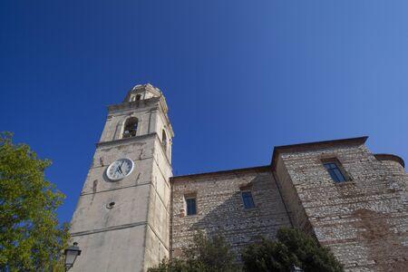 Side view of Churchl in Sirolo, Ancona - Italy (Belfry Church of San Nicolo di Bari)