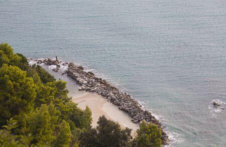 Urbani beach detail as seen from Sirolo (Conero, Adriatic Sea, Italy)
