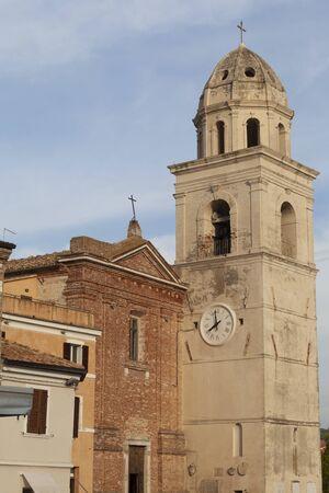 Front View Church in Sirolo, Ancona - Italy (Church of San Nicolo di Bari)