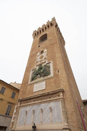 Torre del Borgo in Recanati (Recanati Tower, Macerata - Italy, Birthplace of Giacomo Leopardi)