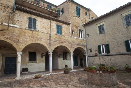 Palace Arched Court in Recanati, Italy 版權商用圖片