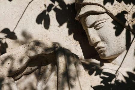Man Woman Face Bas-relief Bellini Roma Eur