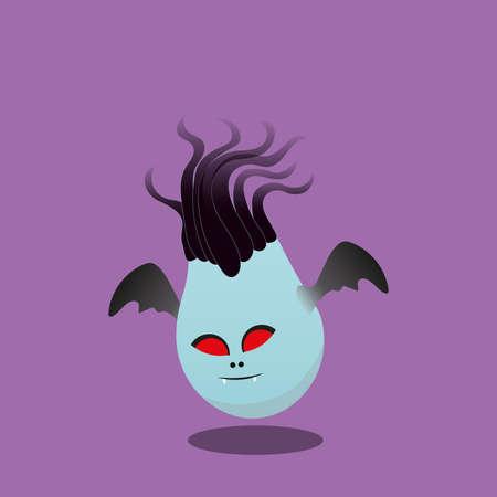 Halloween Vampire character isolated on purple background Иллюстрация