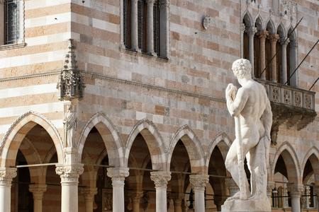 Architecture in Udine city, Friuli Venezia Giulia region, Italy