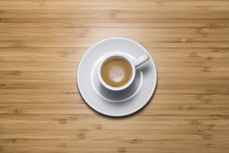 expressed: Cup of coffee, tilt view