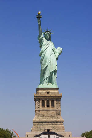 empire state building: Statue of Liberty Editorial